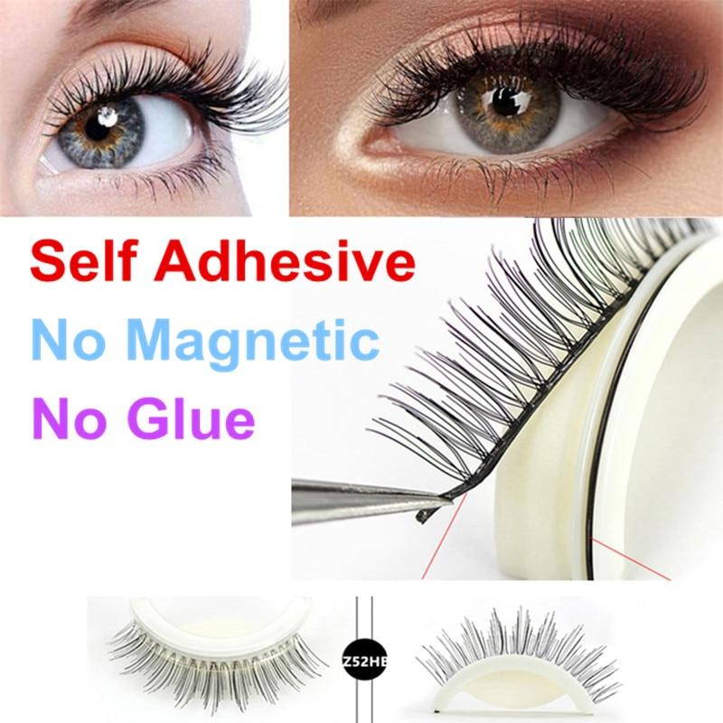 0c893b0dd30 3D Mink Self Adhesive False Eyelashes Natural Long Fake Eyelashes Set  Wearing Without Glue Long Lasting Self-sticking
