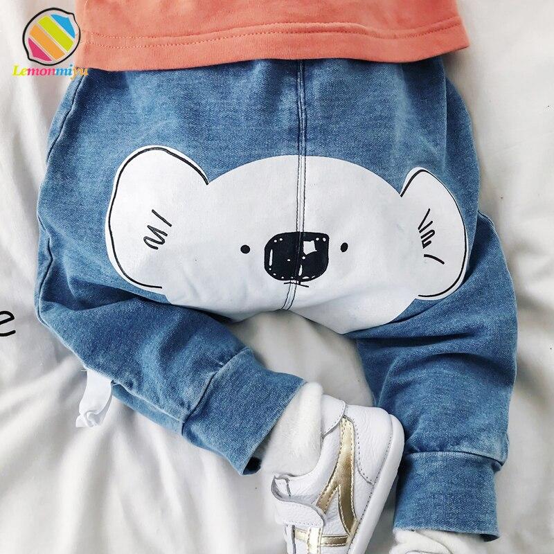 Lemonmiyu Baby Leggings Harem-Pants Long-Trousers Newborn Toddler Autumn Casual Denim