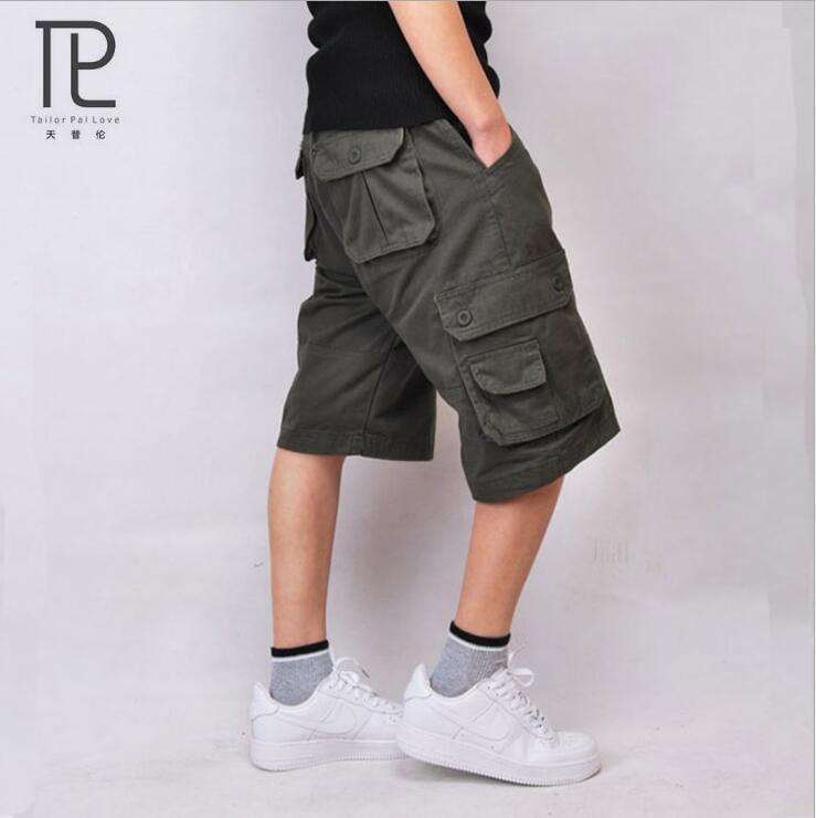 Tailor Pal Love Summer Mens bermuda Militar Waterproof Tactical Cargo Shorts Military Short Men Pockets Casual Male Short #V1