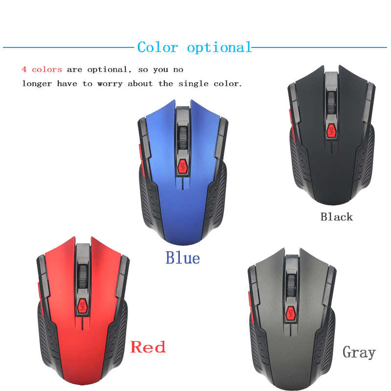 Mini 2 4GHz Wireless Optical Mouse Gamer Optical Scroll Mice for HP ENVY  13-ah0003na 13 3-Inch FHD Touch Screen Laptop