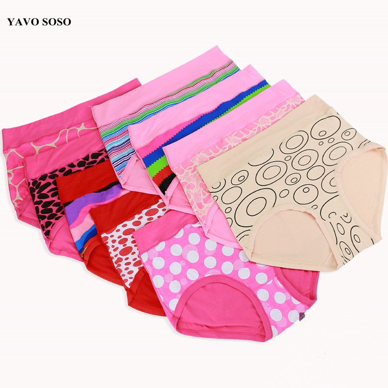 YAVO SOSO Sexy Lingeries Women Briefs Modal Plus Size big size 6XL big dot Circle stone printing Underwears women   Panties