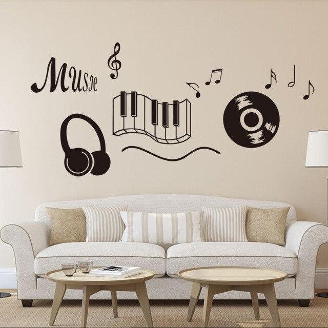 New Generation Music Sticker Beat Note Music Wall Art Stickers Music Bedroom Decor Dancing Music