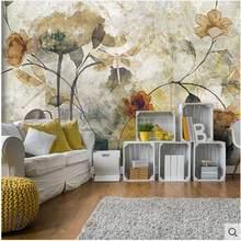Europe Vintage murale fleur papier peint salon mur décor carta da parati 3d fiori papier peint 3d papier peint pour les murs