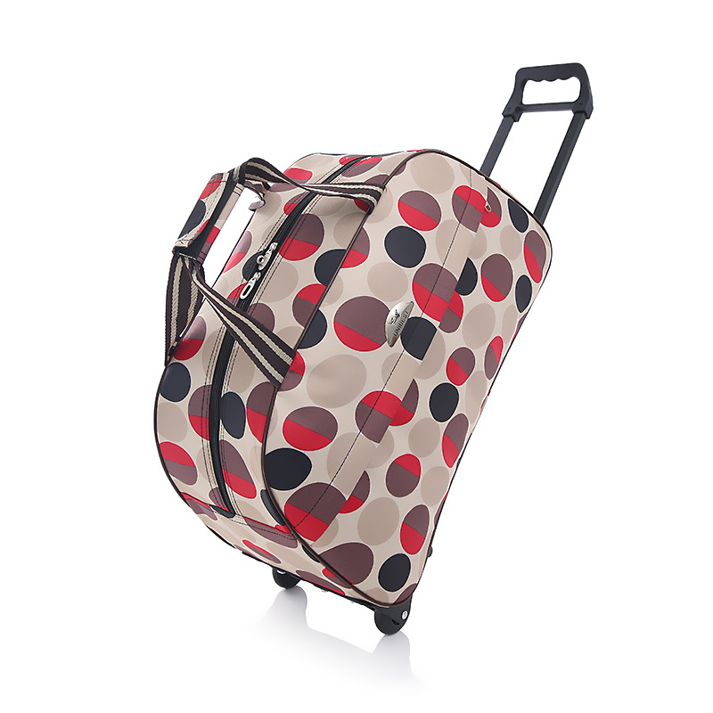 Medium 24 inch stylish trolley luggage waterproof Oxford luggage bag large capacity travel trolley bag light trolley checked bag male big capacity waterproof portable wheel bag travel bag 32 inch moving house trolley bag