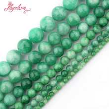 "6,8,10mm Smooth Round Beads Ball Green Candy Jades Stone Beads For Necklace Bracelets Earrings Jewelry Making 15"" Free Shipping(China)"