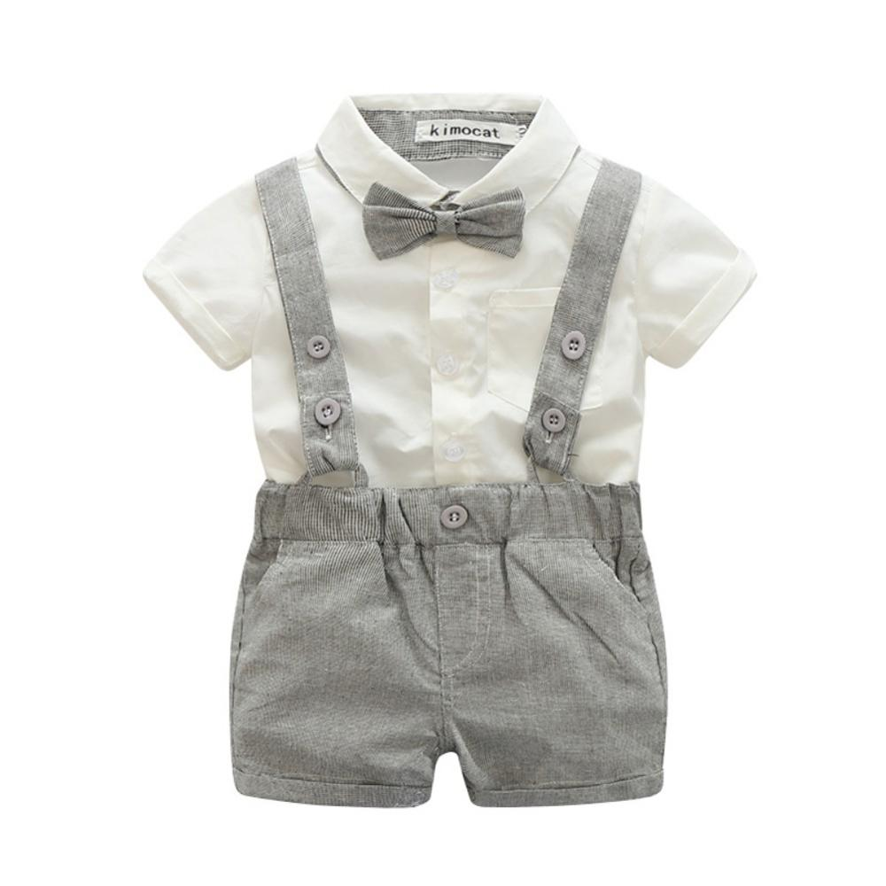 Baby Boys Spanish Style Grey Braces Short Dungarees /& Top Suit Up to 18M