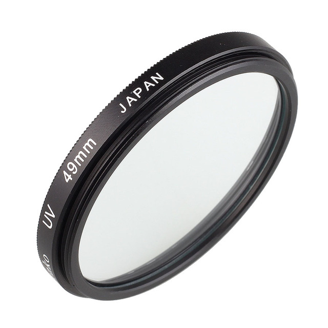 Camera Lens UV Protection Filter 49mm for Canon EF 50mm f/1.8 STM & for Sony E mount 18 55mm f/3.5 5.6 OSS Lens