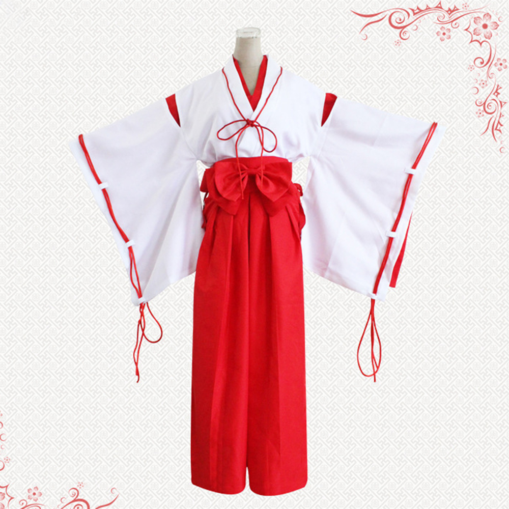 2017 Anime Inuyasha Kikyo Kimono Cosplay Costume Full Set Custom Halloween Carnival Anime cosplay costume For Girl Women Clothes