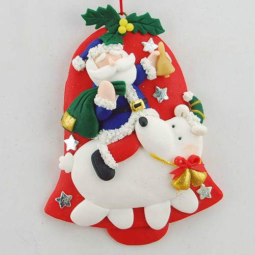 Us 6 92 5 Off Bread Clay Clay Christmas Ornaments Christmas Decoration Christmas Gifts Christmas Tree Pendant In Pendant Drop Ornaments From Home