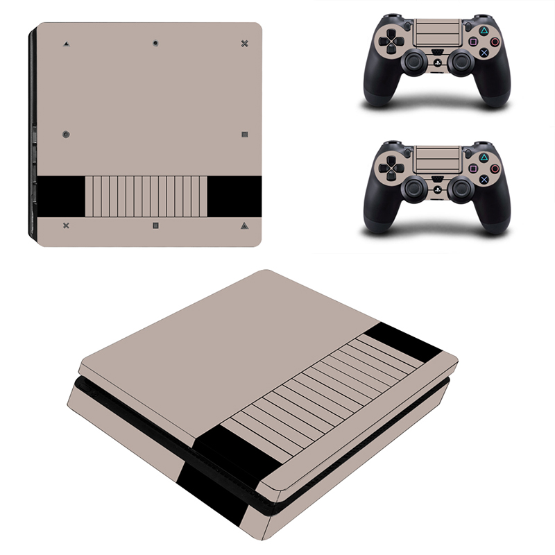 PS4 Slim Skin Film Protector Sticker Cover Decals Wrap For Playstation 4 Slim Console & 2 Controller Game Accessories