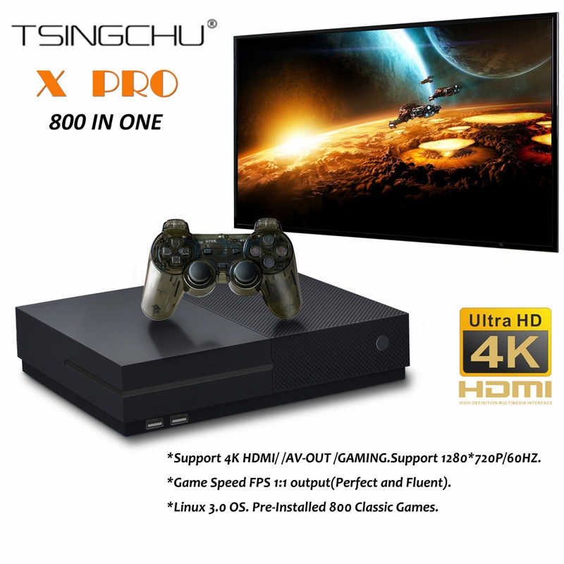TSINGO X Pro 4K HDMI Output Retro Family TV Game Player Built in 800 Classic Games 64Bit Video Game Console For PS1/CPS/GBC/SMS головка ingersoll rand s64m26l ps1