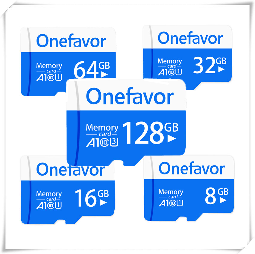 New Arrival!! Onefavor 128GB Micro SDXC SD Card U3 C10 4GB-64GB Micro Sdhc Sd  Card U1 A1 TF Flash Memory Card C10