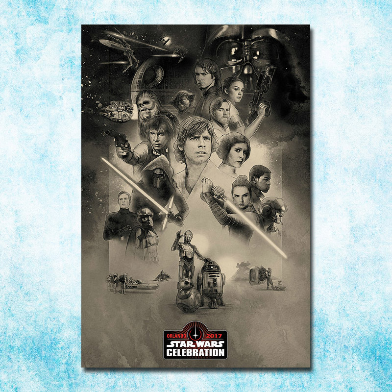 Star Wars The Last Jedi Episode VIII Movie Art Silk Canvas Poster 13x20 24x36/'/'