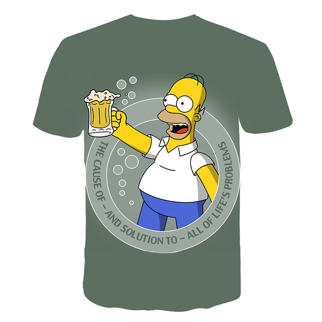 Newest clothing The Simpsons printed 3d Man Women t-shirt casual Harajuku Cartoon Funny tshirt Street Wearing