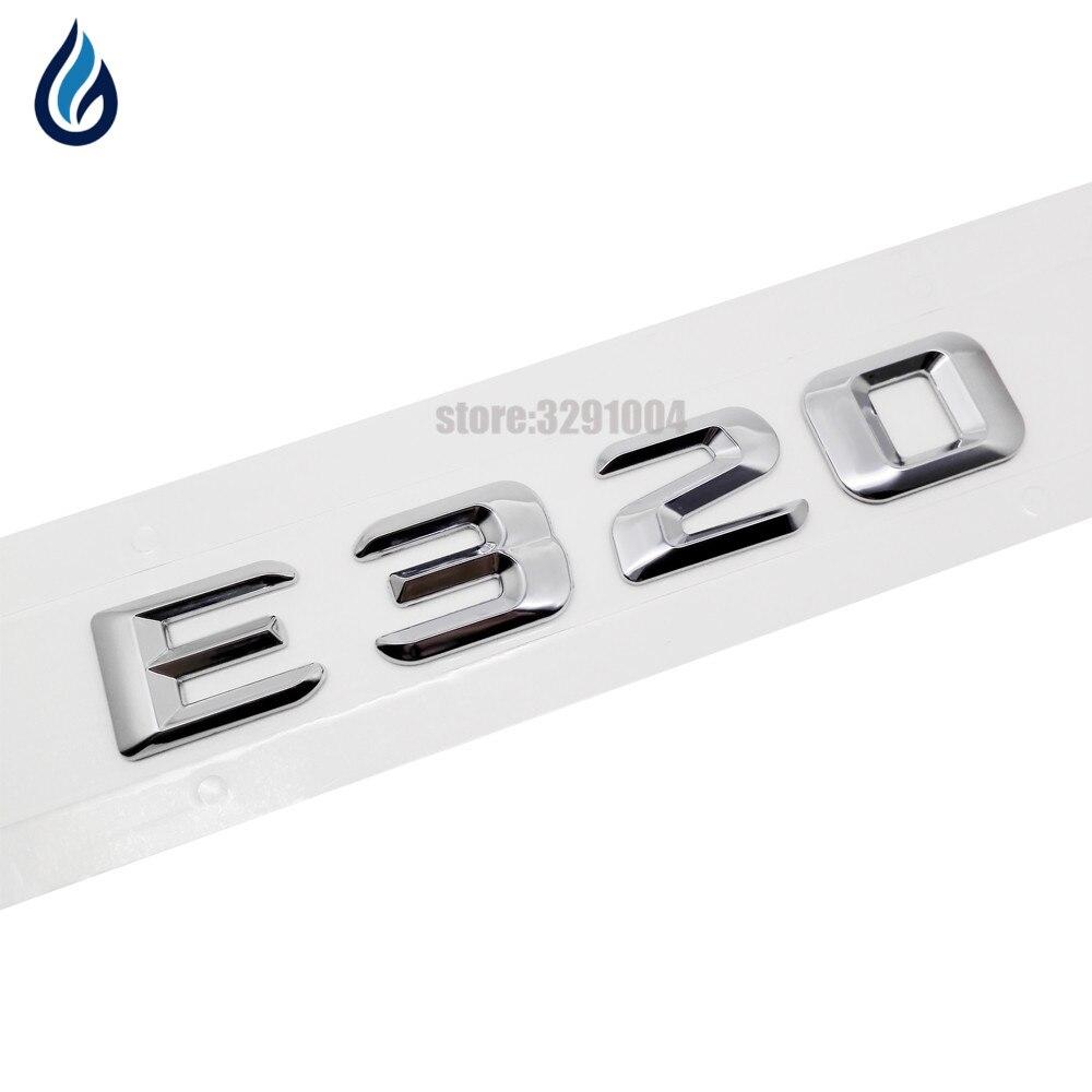 For Mercedes Benz E Class E320 170 W110 W114 W115,W123 W124 W210 W211 W212 Chrome Number Letters Rear Trunk Emblem Badge Sticker turbo for mercedes benz e class m class e270 ml270 w210 w163 99 om612 2 7l gt2256v 715910 715910 5002s 715910 0002 715910 0001