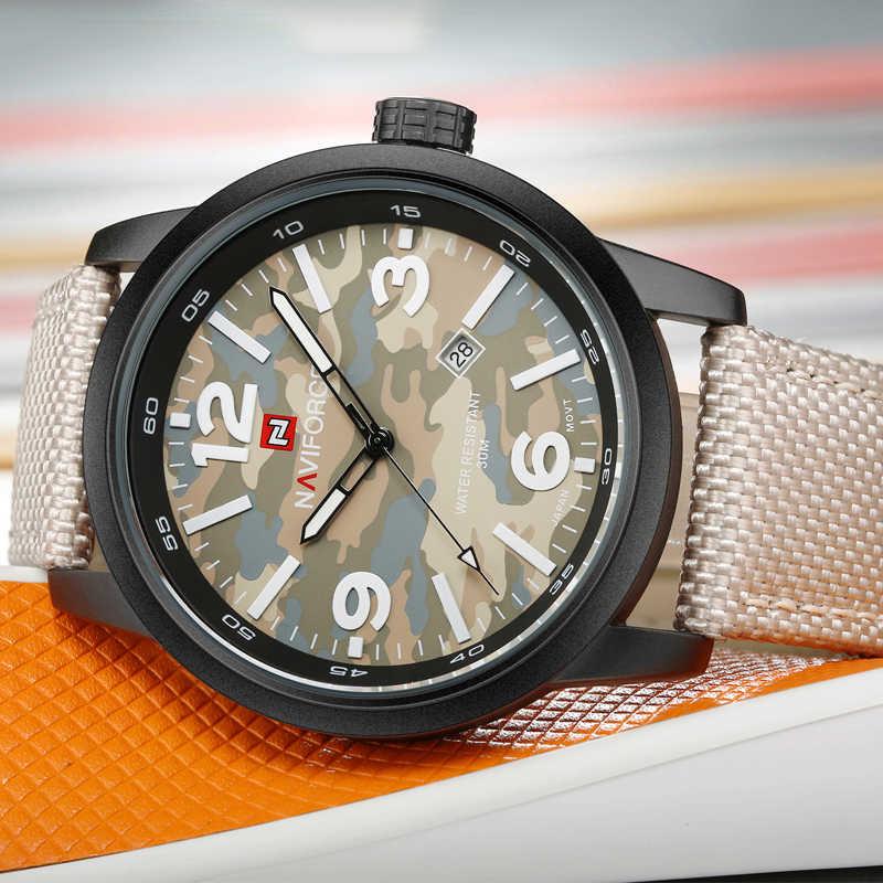 NAVIFORCE Watches Men Fashion Casual Brand Nylon Military Men's Watch Waterproof Quartz Wristwatches Dive Relogio Masculino 2019