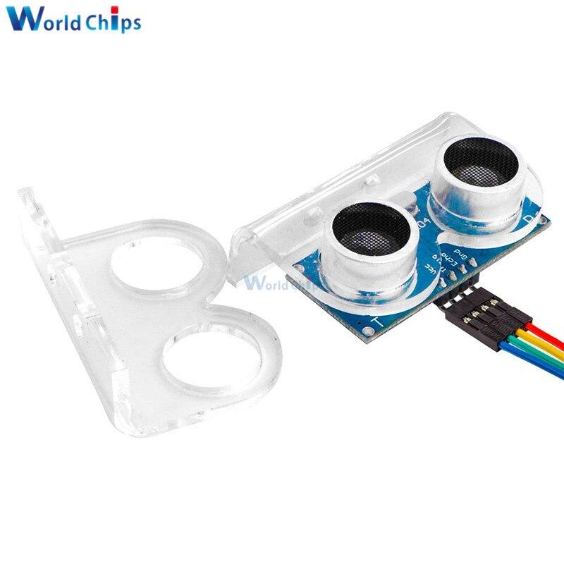 Ультразвуковой датчик HC-SR04 HCSR04 в мир ультразвуковой волновой детектор Начиная Модуль HC SR04 HCSR04 датчик расстояния для Arduino - Цвет: SR04 and bracket 1