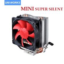 Pc кулер тепловыми трубками кулер super silent 95 Вт готовые 80 мм вентилятор охлаждения для socket lga775/1150/1155/1156/am2/am2 +/am3 754