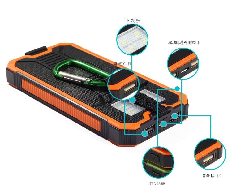 20000mah <font><b>Solar</b></font> power bank <font><b>Charger</b></font> External battery LED lighting Charging PowerBank Battery <font><b>Charger</b></font> Cases For Samsung S9 S8
