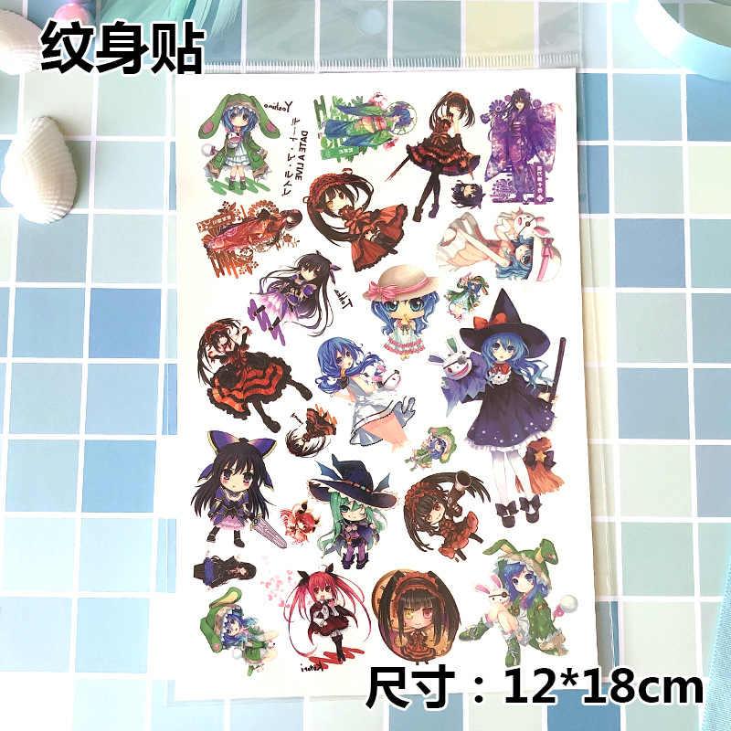 100ps Горячая Аниме тату наклейка гинтама одна деталь Наруто идентичность V Onmyoji LL и т. Д. 40 стилей Лето красота временные наклейки s