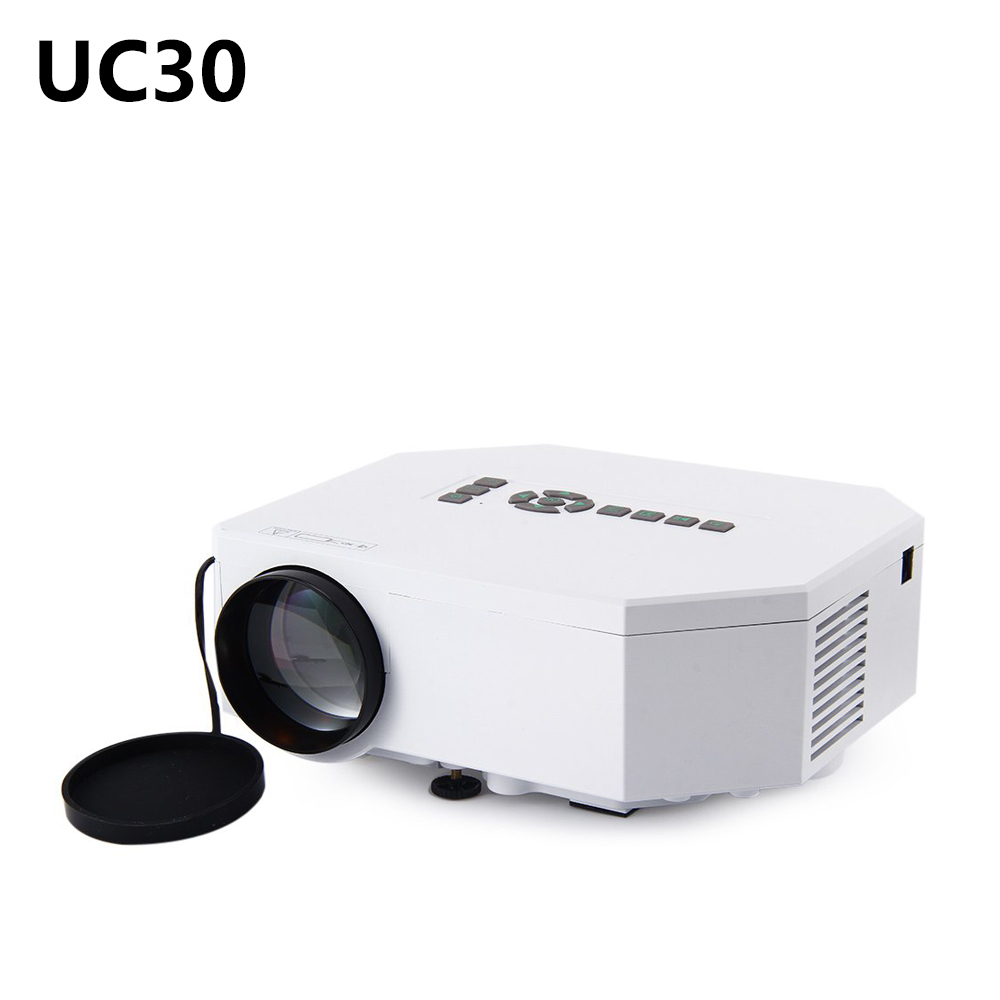 Mini Pico Portable Projector UC30 LED Proyector UNIC 1080P Projection With USB SD VGA HDMI AV Cheaper Small Than UC46 GM60 UC40