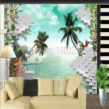 beibehang trees sea large wall murals for living room Rose wallpaper,3D cubes wallpaper murals for living room,custom wall paper цена 2017