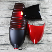 New stripe Vintage motorcycle cushion motorcycle seat with cover and tail light brown Cafe Racer Seat refit