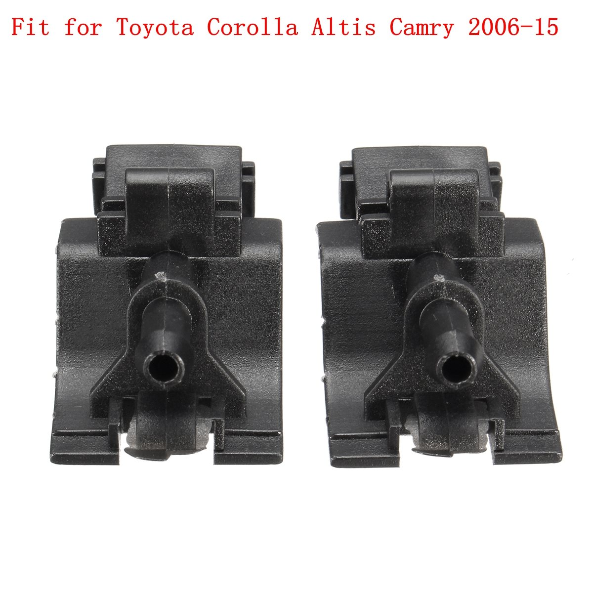 2Pcs Pair Windshield Washer Nozzle Jets Spray Fit for Toyota Corolla Altis Camry 2006-15