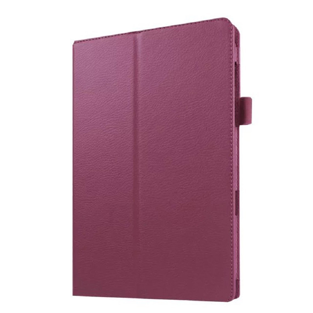 Stand Flip Case PU Leather Cover For Samsung Galaxy Tab E T560 (Purple)