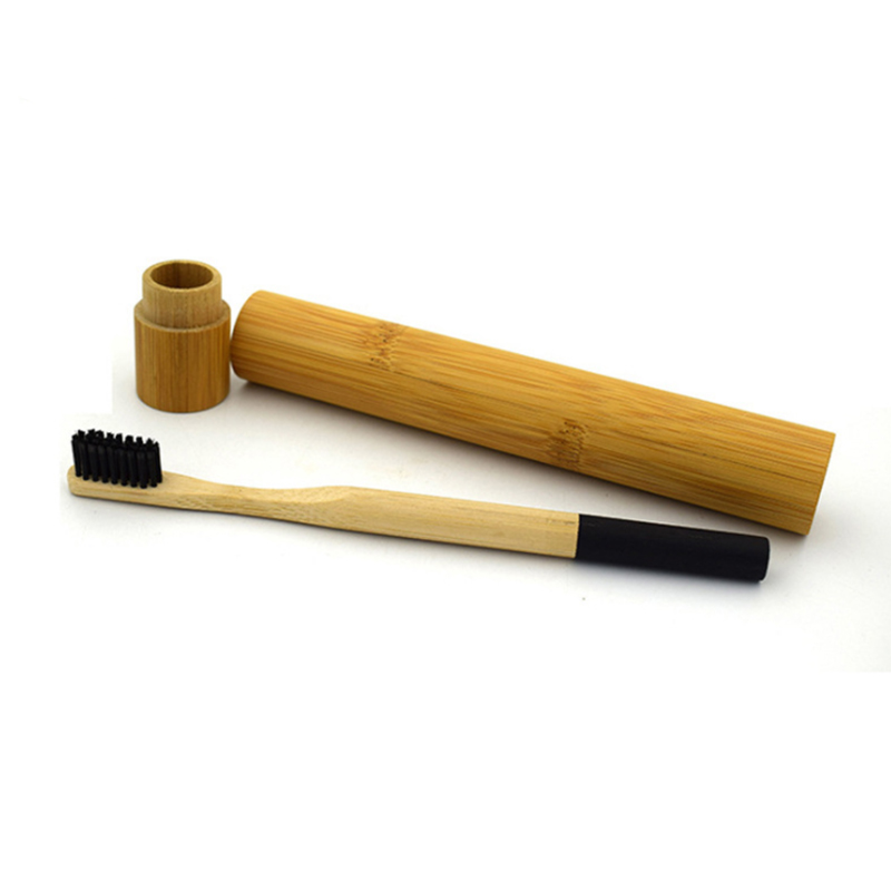 Фотография environmentally 1 bamboo toothbrush+1 bamboo cover case kits for adults with free shipping