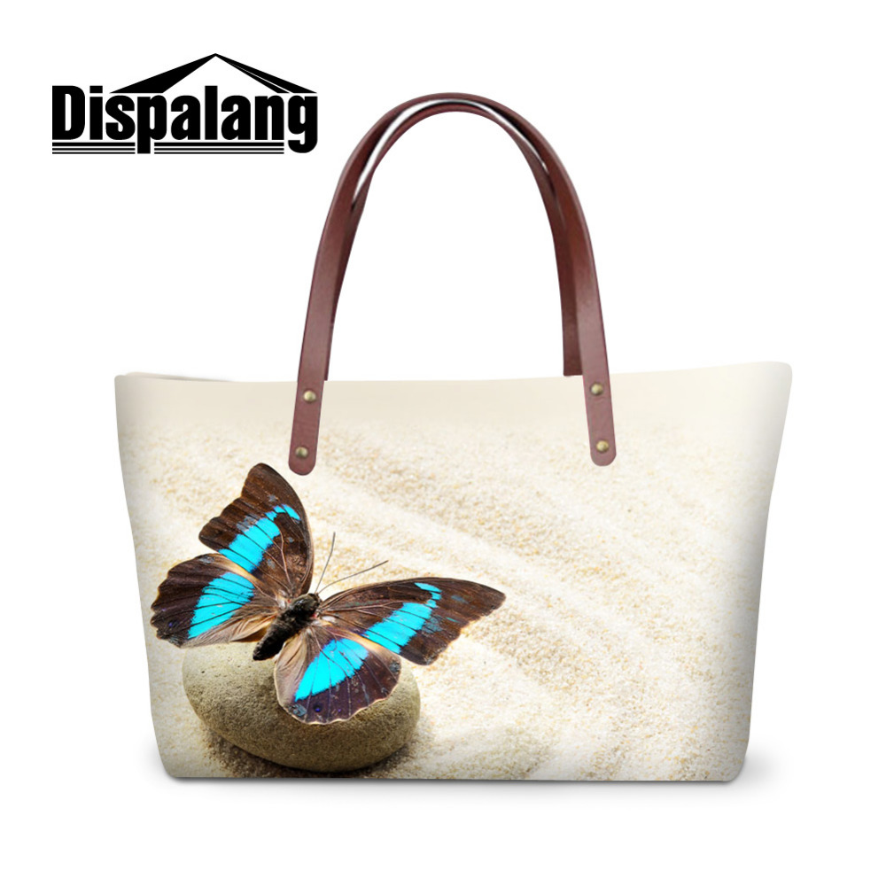 Fashion Butterfly Women Handbags Animal Satchel Bags Large Shopping Bags Casual Shoulder Bags Ladies Big Tote Bag Bolsa Feminina forudesigns casual women handbags peacock feather printed shopping bag large capacity ladies handbags vintage bolsa feminina page 6