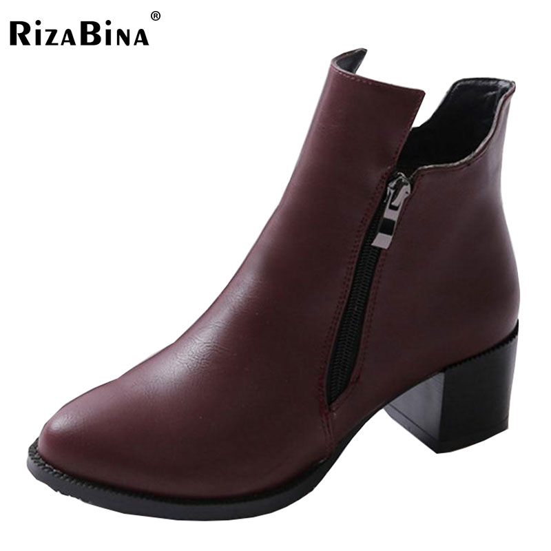 RizaBina Autumn And Winter Short Boots With High Heels Boots Shoes Martin Boots Women Ankle Boots With Thick Scrub 32-43 autumn and winter short cylinder boots with high heels boots shoes martin boots women ankle boots with thick scrub size35 39