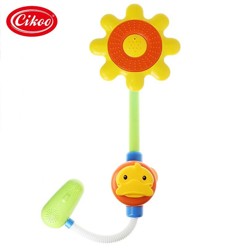 Baby Bath Toys Children Duck Shower Faucet Bath Toy For Kids Gift