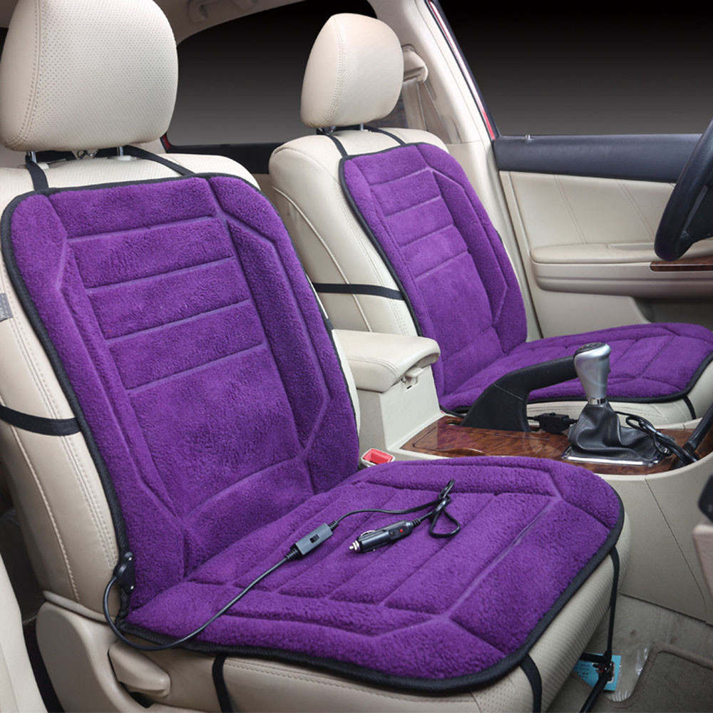 CARPRIE Automobiles Seat Covers 12V Auto Warmer Pad Car Heated Seat Cushion Heating Heater Cover Winter Purple Dec7 2pcs 12v universal car heated seat covers pad carbon fiber heated auto car seat heating pad winter warmer heater mat
