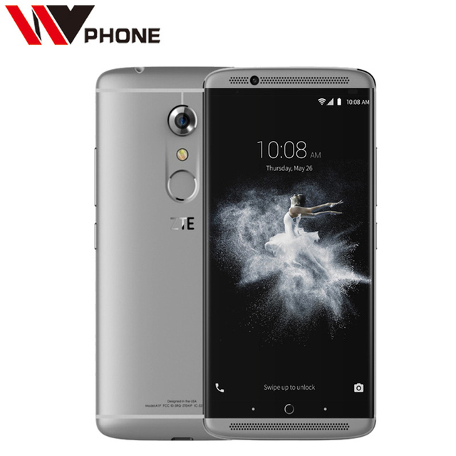 "WV Original ZTE Axon 7 4G LTE Mobile Phone Snapdragon 820 5.5"" 2K 2560X1440 4 RAM 128G ROM 20.0MP Force Touch NFC"