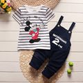 Baby boy clothes 2016 summer kids clothes Mickey sets t-shirt+pants suit clothing set Printed Clothes newborn  suits