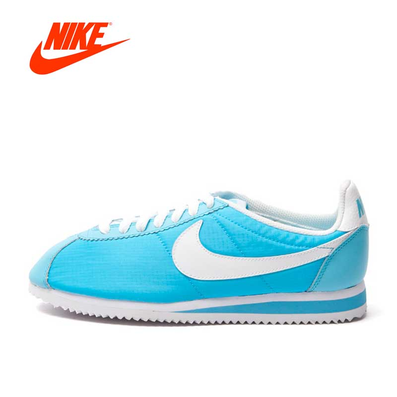 Intersport Official Nike Breathable WMNS CLASSIC CORTEZ NYLON Skateboarding Shoes sneakers original nike classic cortez nylon men s skateboarding shoes 532487 sneakers free shipping