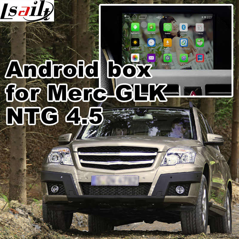 Android 6 0 GPS navigation box for Mercedes benz GLK class X204 NTG 4 5  video interface with mirror link yandex waze youtube