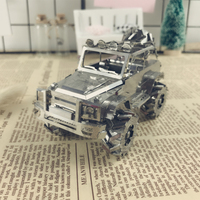 Off Road Vehicle SUV Car Enthusiasts Classic Collection 3D Metal Assembly Model Puzzle Intelligence Toys DIY