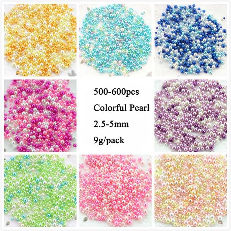 500pcs/lot DIY UV Pearl Particles Accessories Slime Balls Small Tiny Foam Beads For Floam Filler For Slime DIY Supplies 2.5-5mm