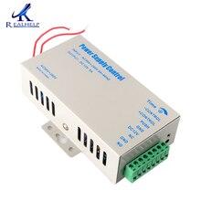 Fuente de alimentación con control de acceso, interruptor de alta calidad de 12V 5A, fuente de alimentación AC 90 ~ 260V, juego de retardo de tiempo
