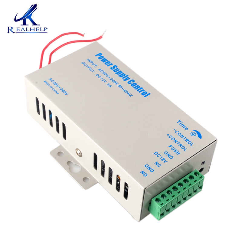 Overload Protection Door access control Power Supply 12V 5A High Quality Switch Power Supply AC 90~260V Time Delay Set best price of dc12v 5a power supply with high quality for access control system kit switch electronic power ac90v 260v