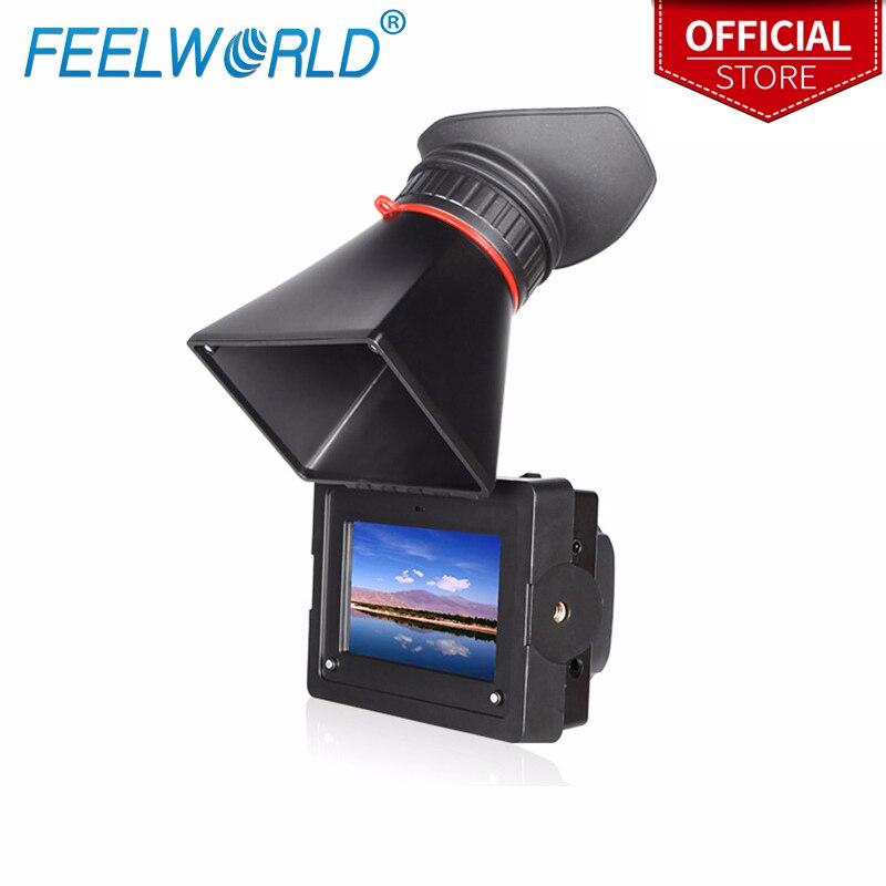 Feelworld E350 3.5 pollice Elettronici View Finder con HDMI di Ingresso e di Uscita MIRINO ELETTRONICO Della Macchina Fotografica LCD Esterno Viwefinders