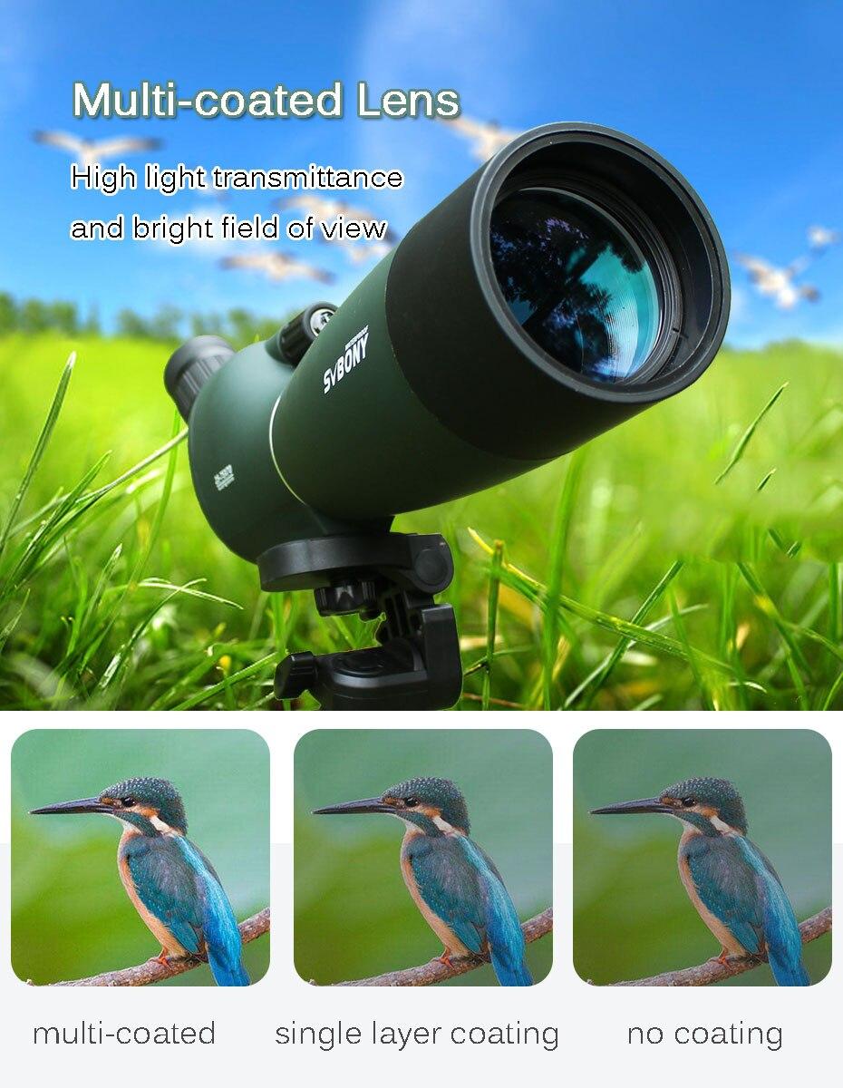 Svbony SV28 50/60/70mm longue-vue Zoom télescope étanche montre à oiseaux chasse monoculaire et universel adaptateur de téléphone optique pour la chasse, le tir, le tir à l'arc, l'observation des oiseaux - 6