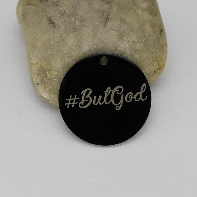Amuletos religiosos de acero inoxidable Ladyfun # ButGod Charm for jewelry making
