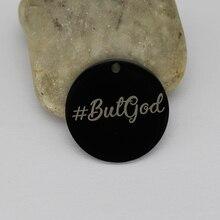 دلايات دينية من الفولاذ المقاوم للصدأ على شكل إله دلاية # ButGod لصنع المجوهرات