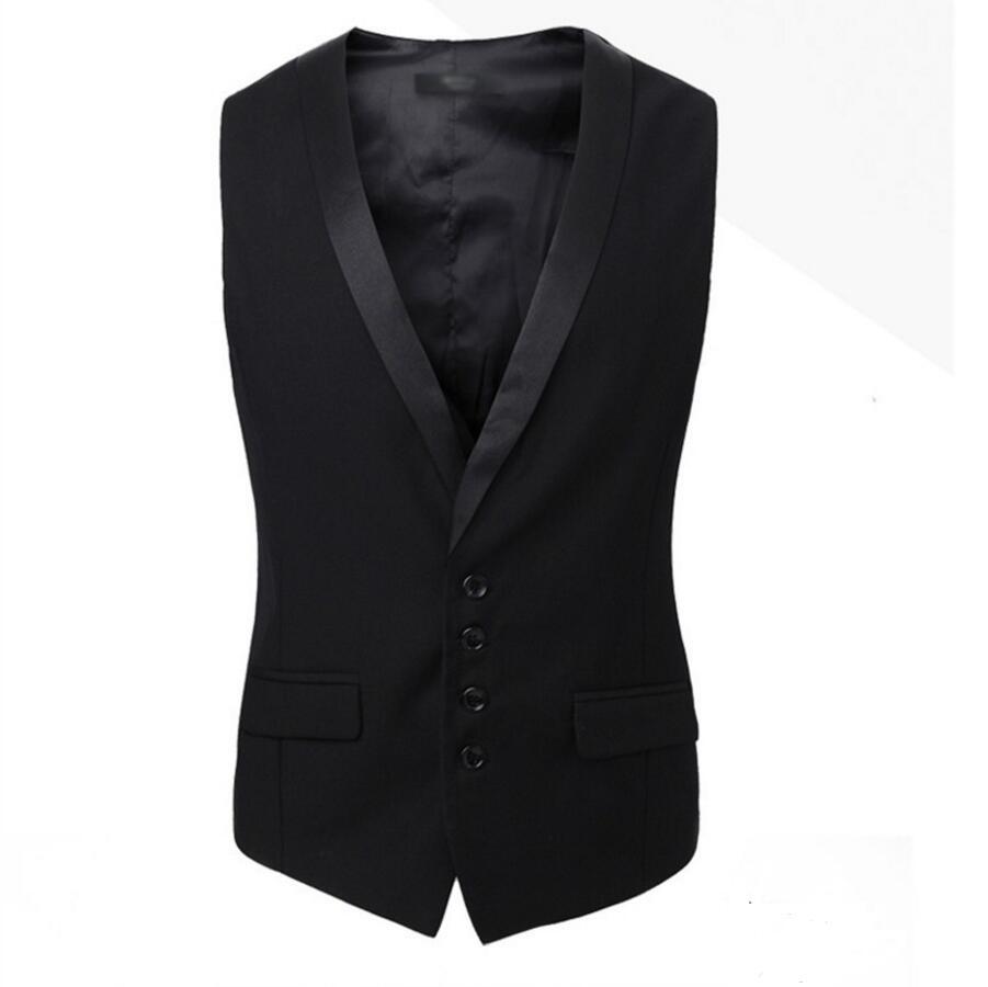 2018 Männer Anzüge Weste Gilet Neue Ankunft Männer Weste Slim Fit Mode Männlichen Weste Schwarz Farben Formal Business Männliche Kleidung