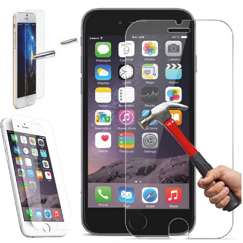 4 7 for iphone 6 tempered glass film screen protector for. Black Bedroom Furniture Sets. Home Design Ideas