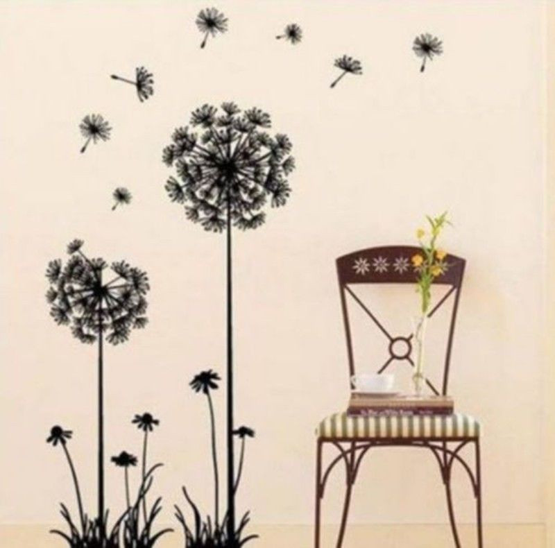 Bedroom   Dandelion Chair Pattern Waterproof Wall Sticker Decal Mural 70x50cm