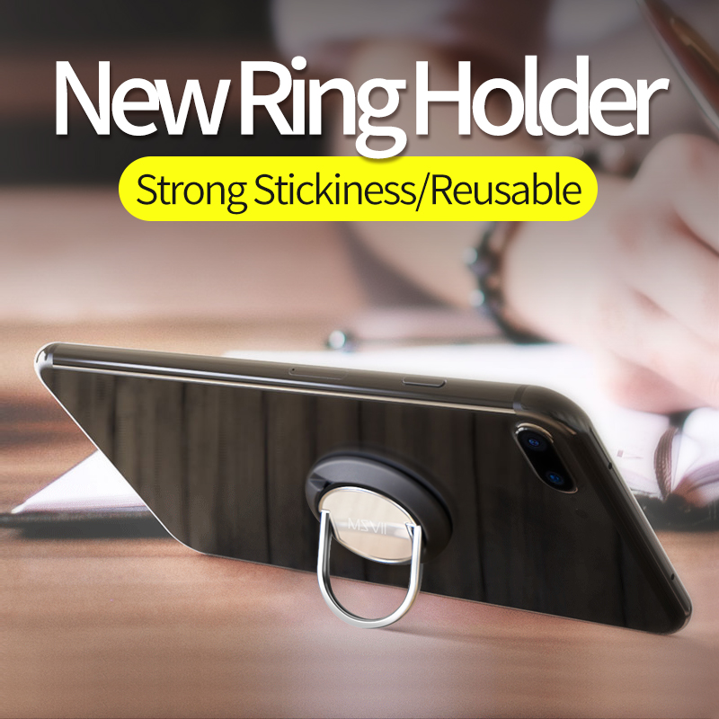 Msvii Phone Holder Ring Grip Stand Magnetic Universal Desk Lazy Finger for Mobile Phones telefoonhouder auto anneau telephone